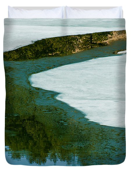 Ice Borders Duvet Cover by Colleen Coccia