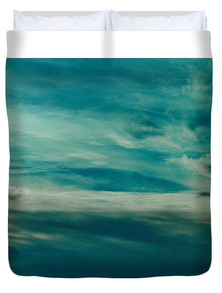 Duvet Cover featuring the photograph Icelandic Sky by Michael Canning