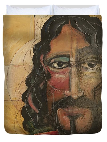 icon no 4 revision A Duvet Cover by Tim Nyberg