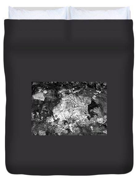 Duvet Cover featuring the photograph Icy Road by Chalet Roome-Rigdon