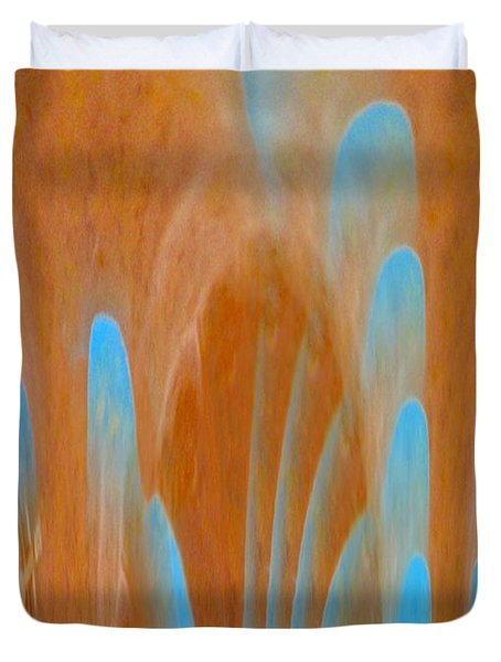 Idol Of Pomos Abstract Duvet Cover by Augusta Stylianou