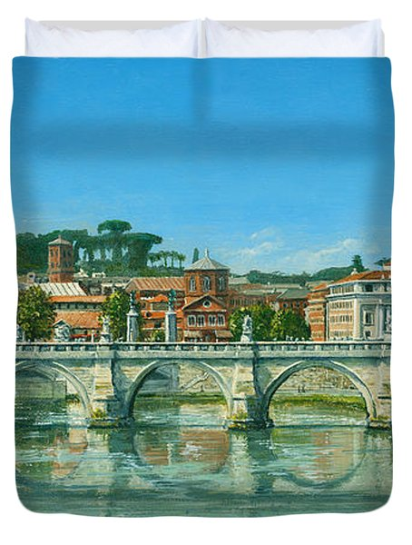 Il Fiumi Tevere Roma Duvet Cover by Richard Harpum