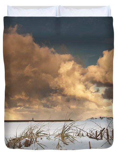 Illuminated Clouds Glowing Above A Duvet Cover by John Short