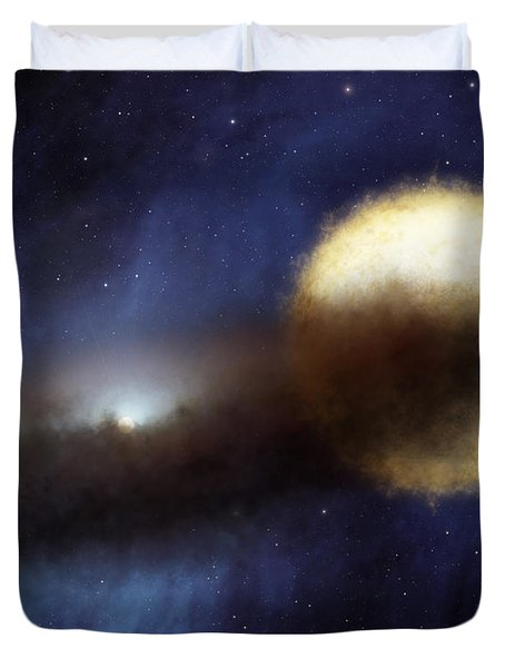 Illustration Of A Bright Star Called Duvet Cover by Stocktrek Images