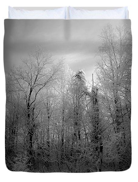 Impressionist Snow Duvet Cover