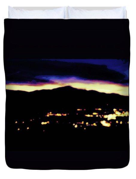 Impressionistic Pikes Peak Duvet Cover