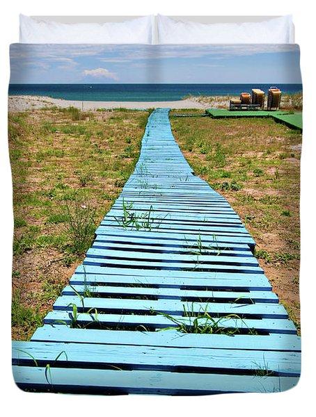 Improvised Boardwalk Duvet Cover by Meirion Matthias