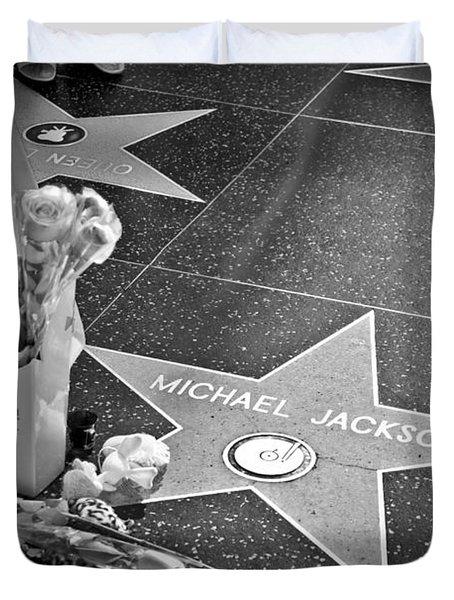 in memoriam Michael Jackson Duvet Cover by Ralf Kaiser