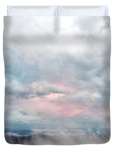 In The Clouds Duvet Cover by Jeannette Hunt