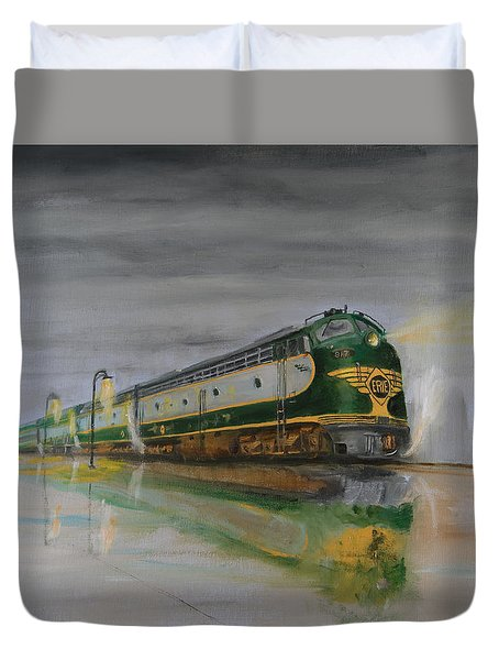 In The Cold Mist Duvet Cover by Christopher Jenkins