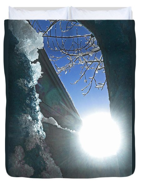 Duvet Cover featuring the photograph In The Cold Of The Sun by Steve Taylor