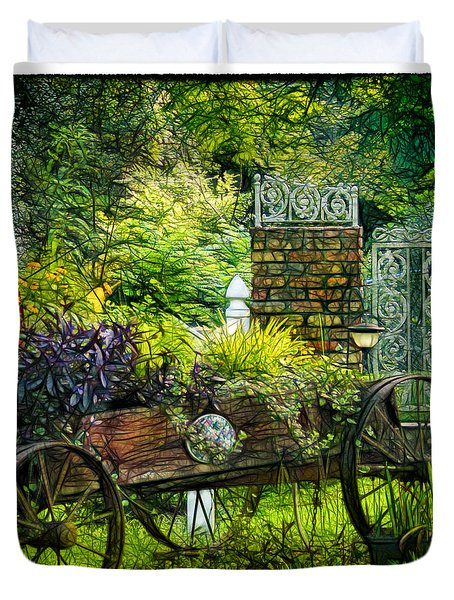 In The Garden Duvet Cover by Judi Bagwell