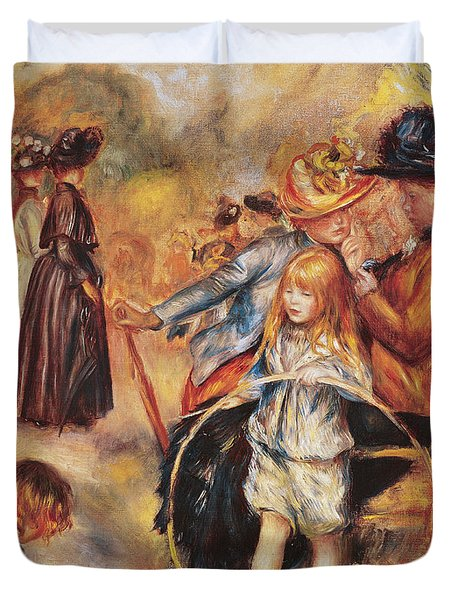 In The Luxembourg Gardens Duvet Cover by Pierre Auguste Renoir