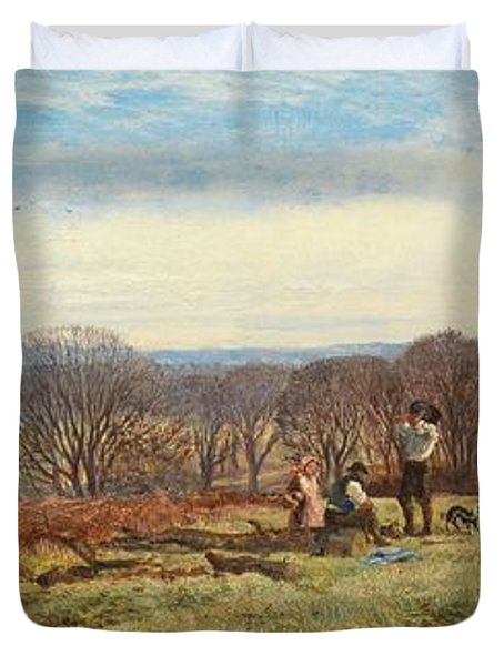 In The New Forest Duvet Cover by Heywood Hardy