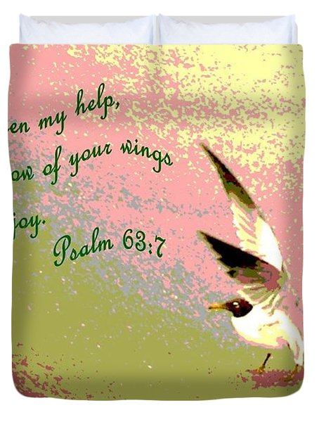 In The Shadow Of Your Wings Duvet Cover