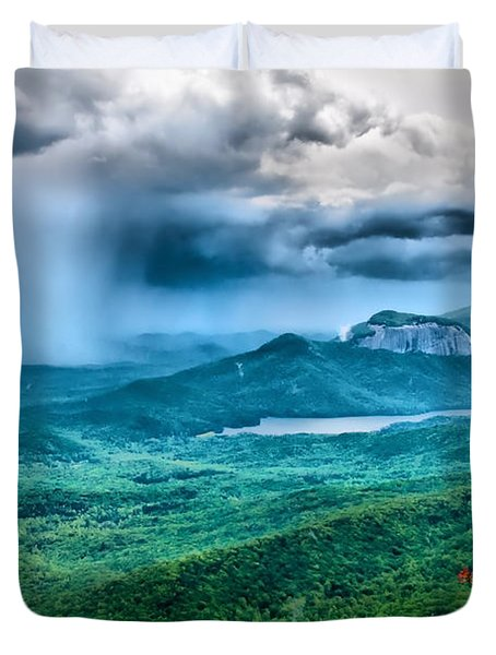 Incoming Storm Duvet Cover by Lynne Jenkins