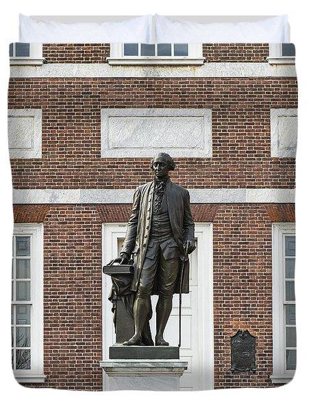 Independence Hall Philadelphia Duvet Cover by John Greim