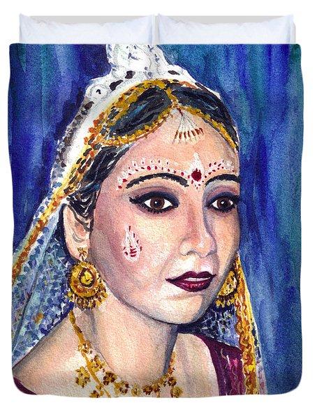 Indian Bride  Duvet Cover by Clara Sue Beym