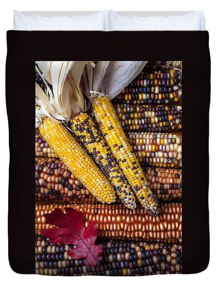 Indian Corn Duvet Cover by Garry Gay