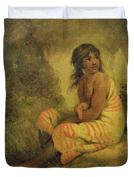 Indian Girl Duvet Cover by George Morland