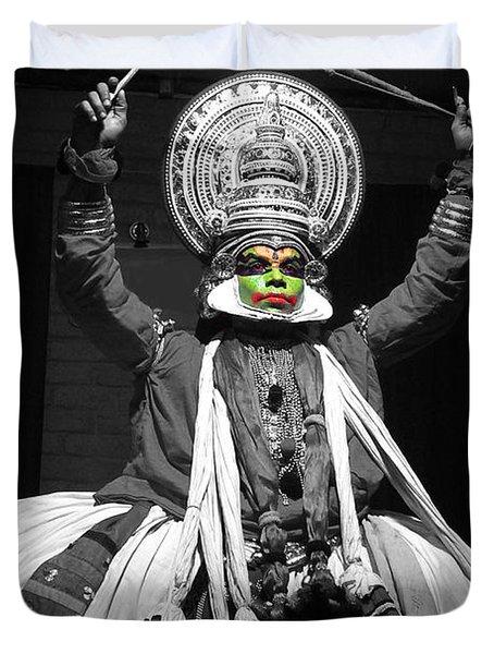 Indian Kathakali Dance Of Kerela 2 Duvet Cover by Sumit Mehndiratta
