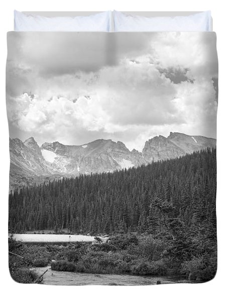Indian Peaks Summer Day Bw Duvet Cover by James BO  Insogna