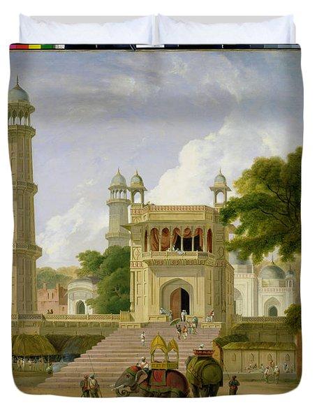 Indian Temple Duvet Cover