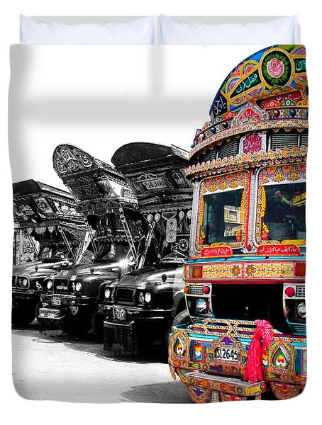 Indian Truck Duvet Cover
