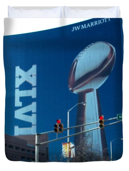 Indianapolis Marriott Trubute To Super Bowl 46 Duvet Cover