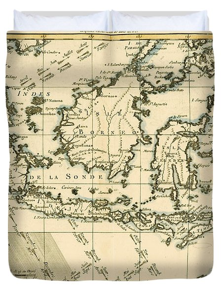 Indonesia And The Philippines Duvet Cover by Guillaume Raynal