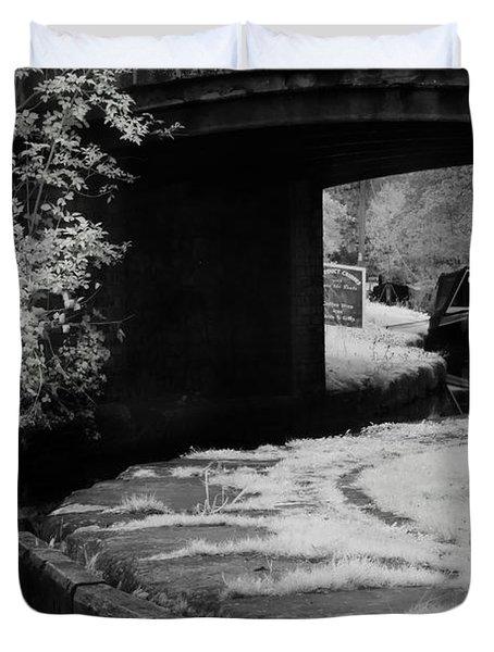 Infrared At Llangollen Canal Duvet Cover