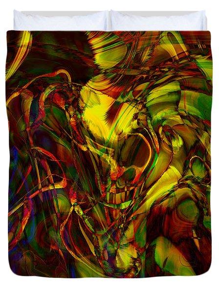 Injections Duvet Cover by Linda Sannuti