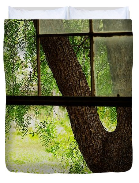 Duvet Cover featuring the photograph Inside Looking Out by Blair Stuart