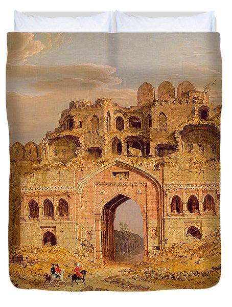 Inside The Main Entrance Of The Purana Qila - Delhi Duvet Cover by Robert Smith