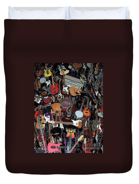 Instruments Duvet Cover by Chalet Roome-Rigdon