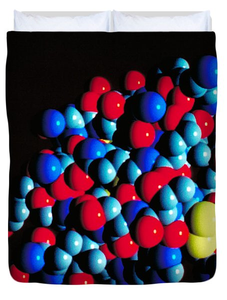 Insulin Molecule Duvet Cover by Science Source