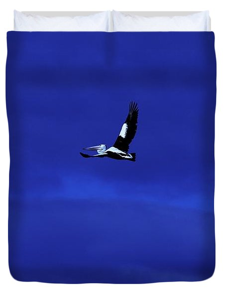 Duvet Cover featuring the photograph Into The Blue by Blair Stuart