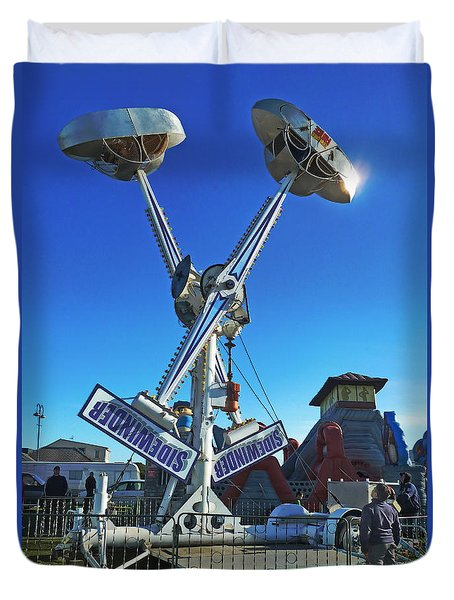 Duvet Cover featuring the photograph Into The Blue by Steve Taylor