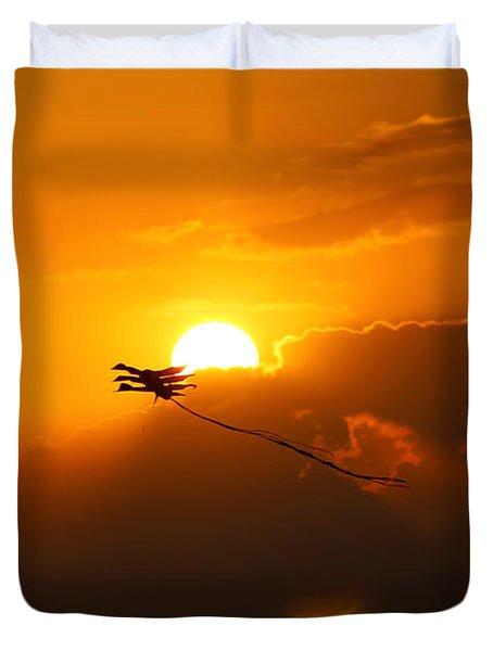 Into The Sun Duvet Cover