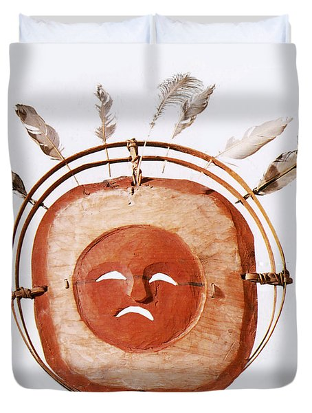 Inuit Moon Mask Duvet Cover by Photo Researchers