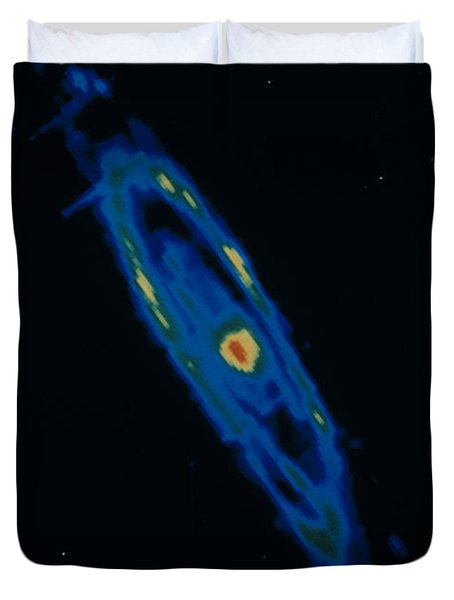 Iras Infrared Image Of The Andromeda Duvet Cover by NASA / Science Source