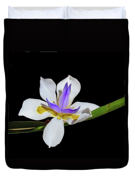 Duvet Cover featuring the photograph Iris by Bonnie Muir
