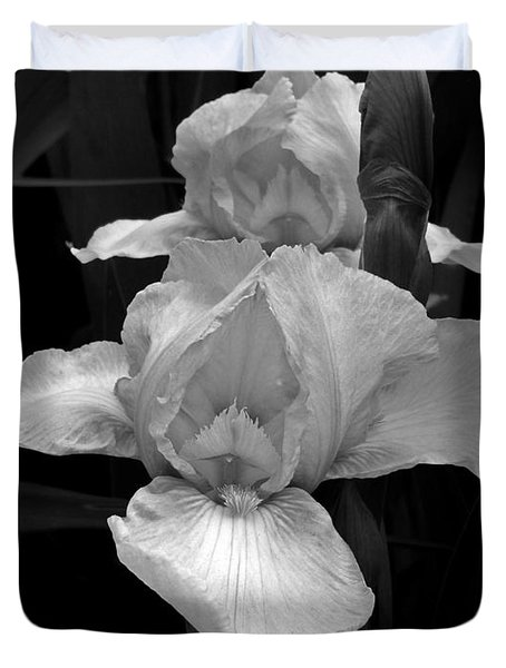 Duvet Cover featuring the photograph Iris by David Pantuso