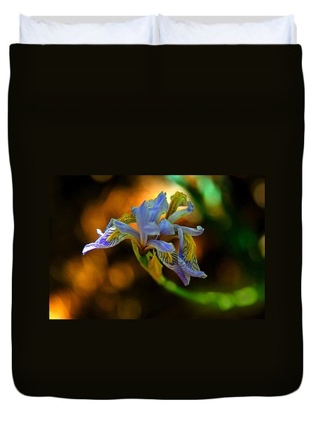 Duvet Cover featuring the photograph Iris by Tam Ryan
