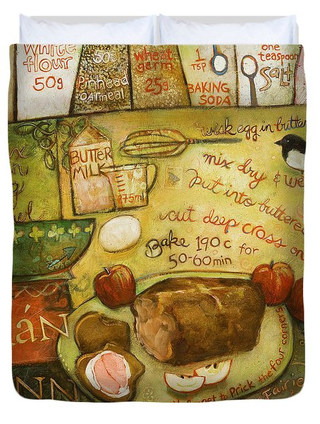 Irish Brown Bread Duvet Cover by Jen Norton