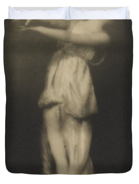 Irma Duncan Duvet Cover by Arnold Genthe