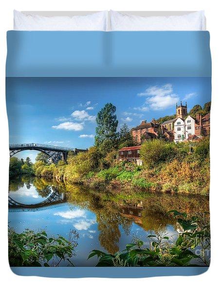 Iron Bridge 1779 Duvet Cover by Adrian Evans