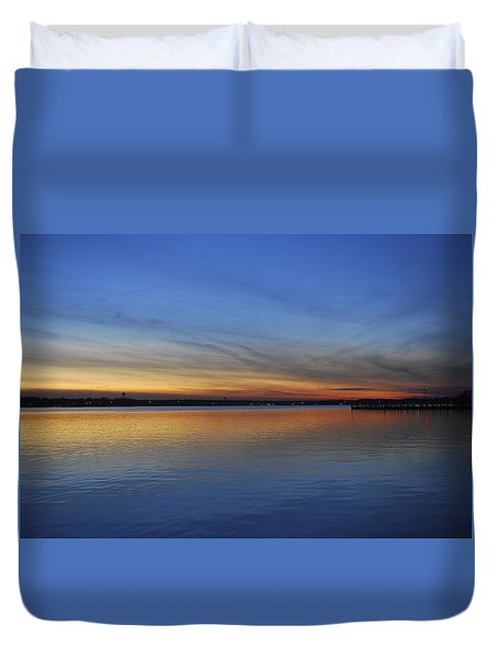 Island Heights At Dusk Duvet Cover by Terry DeLuco