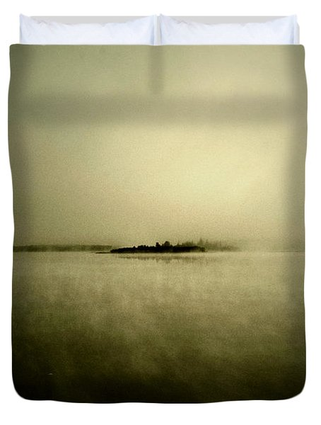 Island Of Mystic  Duvet Cover by Jerry Cordeiro