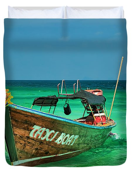 Island Taxi  Duvet Cover by Adrian Evans